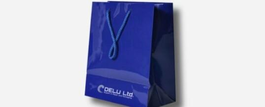 Papiertragetasche – Blau ; glanz veredelt