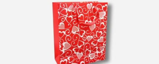 Papiertragetasche – Rote Herzen