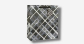Papiertragetasche – Diagonale Streifen