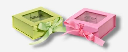 Photo Boxen mit Fenster + Schleife
