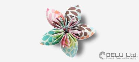 Bastelanleitung für eine perfekte Origami Blume