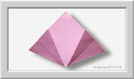 bastelanleitung f r eine perfekte origami blume delu ltd feinste papierprodukte. Black Bedroom Furniture Sets. Home Design Ideas