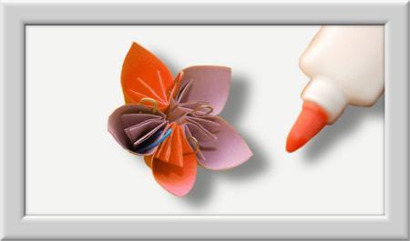 Anleitung Origami Kusudama Blume 016