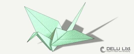 Anleitung um einen wunderschönen Origami Kranich zu falten