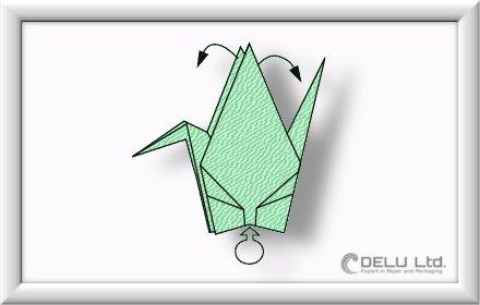 anleitung um einen wundersch nen origami kranich zu falten delu ltd feinste papierprodukte. Black Bedroom Furniture Sets. Home Design Ideas