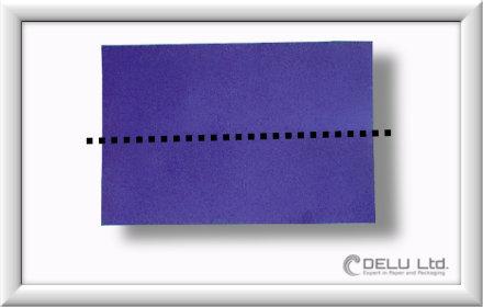 Düsenjet Papierflieger falten Schritt 001
