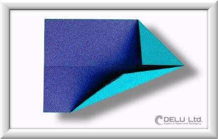 Düsenjet Papierflieger falten Schritt 007