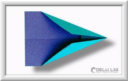 Düsenjet Papierflieger falten Schritt 008
