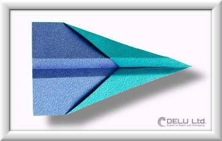 Düsenjet Papierflieger falten Schritt 012