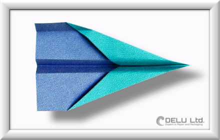 Düsenjet Papierflieger falten Schritt 013