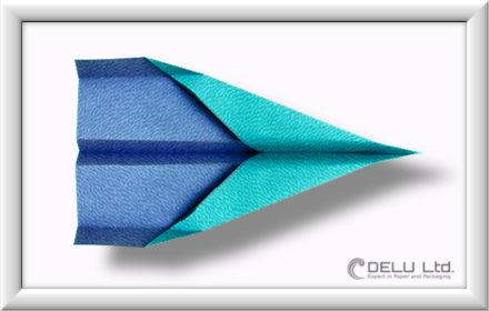 Düsenjet Papierflieger falten Schritt 014