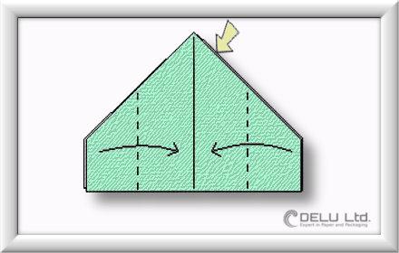 Origami Box falten Schritt 004