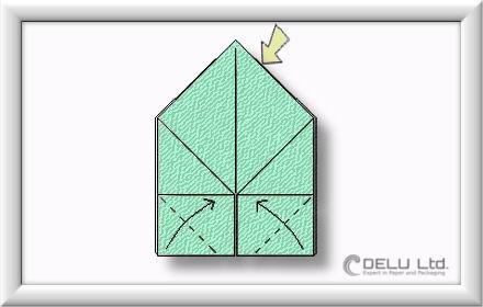 Origami Box falten Schritt 005