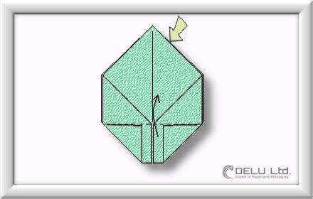 Origami Box falten Schritt 006