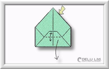 Origami Box falten Schritt 007