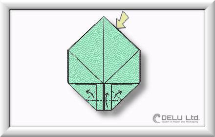 Origami Box falten Schritt 008