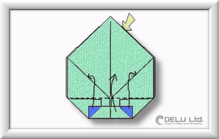 Origami Box falten Schritt 009