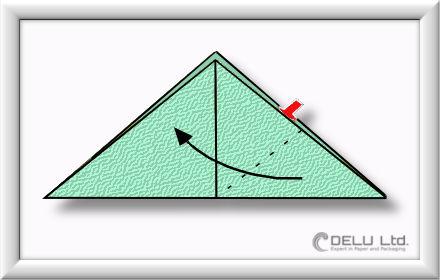 Origami Schachtel falten Schritt 004
