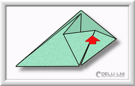 Origami Schachtel falten Schritt 005