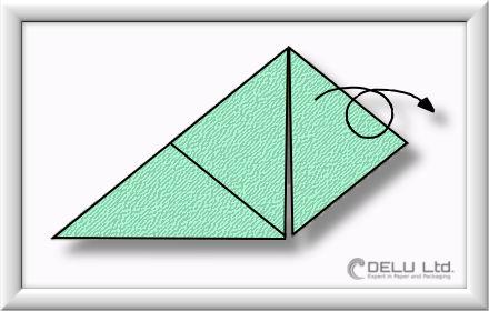 Origami Schachtel falten Schritt 006
