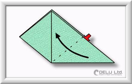 Origami Schachtel falten Schritt 007