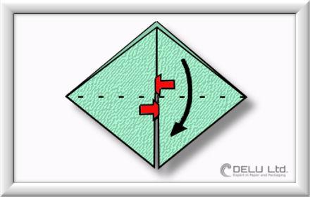 Origami Schachtel falten Schritt 008