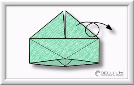 Origami Schachtel falten Schritt 009