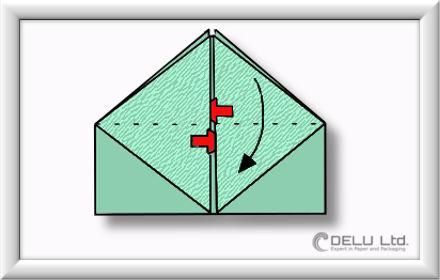 Origami Schachtel falten Schritt 010