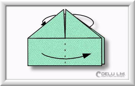 Origami Schachtel falten Schritt 011