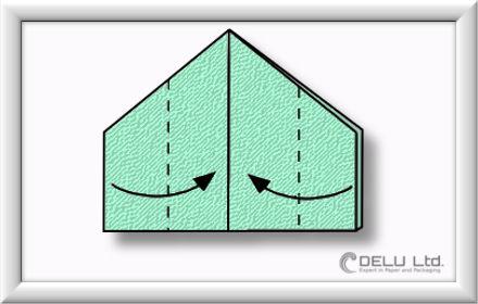 Origami Schachtel falten Schritt 012