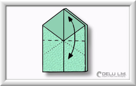 Origami Schachtel falten Schritt 013