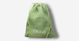 Burlap Drawstring Pouch – Light Green