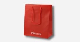 Paper Bag – Plain Red ; mat finish