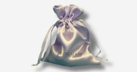 Satin Drawstring Pouch Pearl