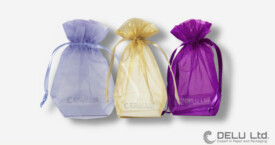 Organza pouches with drawstring