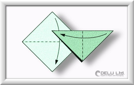 how to fold Origami Crane Step 001