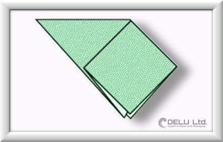 how to fold Origami Crane Step 002