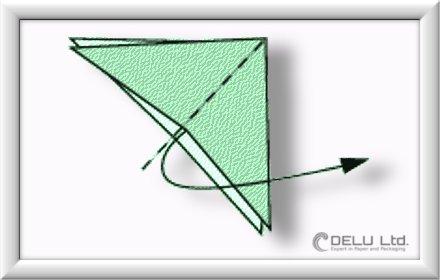 how to fold Origami Crane Step 003