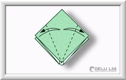 how to fold Origami Crane Step 004