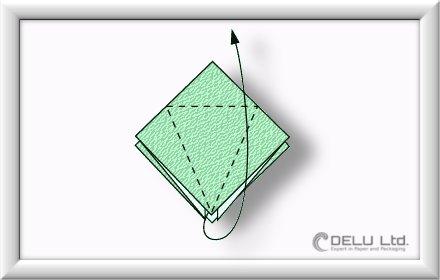 how to fold Origami Crane Step 005