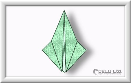 how to fold Origami Crane Step 006