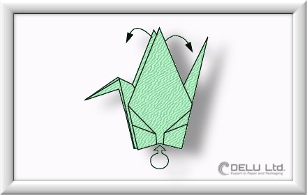 how to fold Origami Crane Step 011