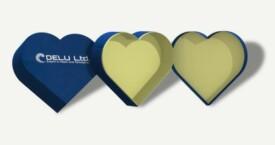 Heart shaped gift box – Blue