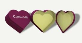 Heart shaped gift box – Lilac