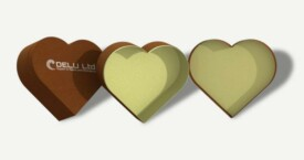 Heart shaped gift box – Brown