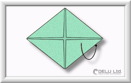 How to fold Origami paper box with handles Step 003