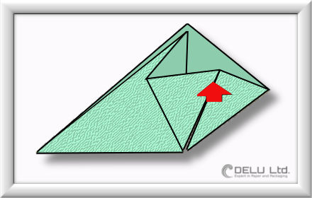 How to fold Origami paper box with handles Step 005