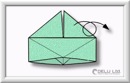 How to fold Origami paper box with handles Step 009