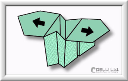 How to fold Origami paper box with handles Step 014
