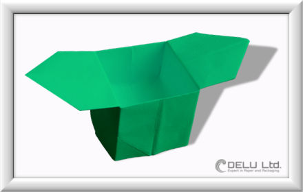 How to fold Origami paper box with handles Step 015